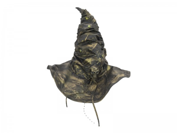 Hexenhut zerknautscht Bronze - Halloween Kostüm - diverse Applikationen