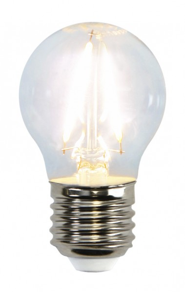 LED Tropfenlampe FILA G45 - E27 - 1,5W - warmweiss 2700K - 150lm - klar