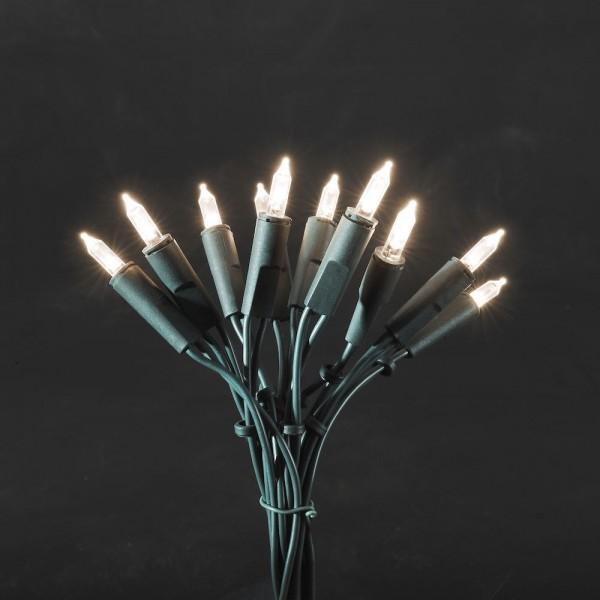 LED Minilichterkette - 35x Warmweiß - 5,15m - Indoor - Grünes Kabel