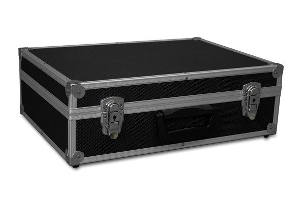 GORANDO® Transportkoffer schwarz | Alurahmen | 440x300x130mm | Werkzeuge, Kameras, Messgeräte...