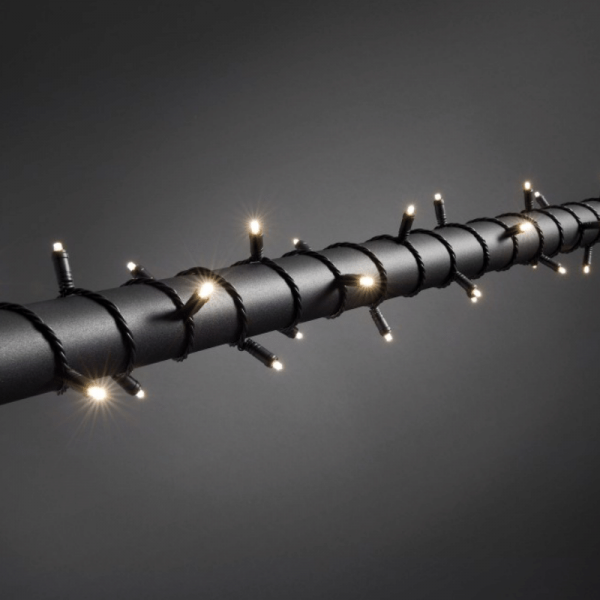 LED Microlichterkette - LED Expert - 11,90m - 120x Warmweiß - Schwarzes Softkabel - Timer -Outdoor