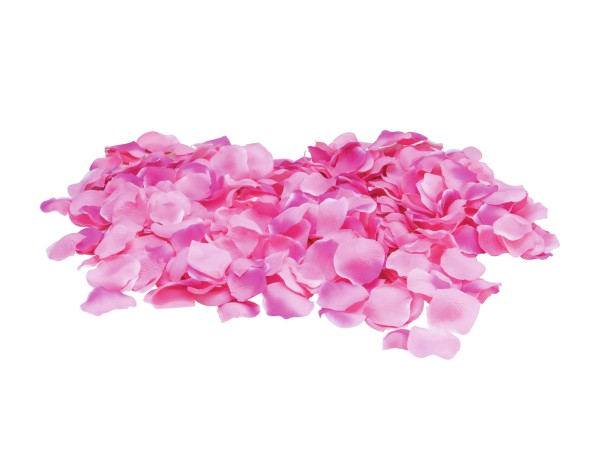 Rosenblätter, pink, 500 Stück aus Textil, Größe 8cm - Romatik-Dekoration