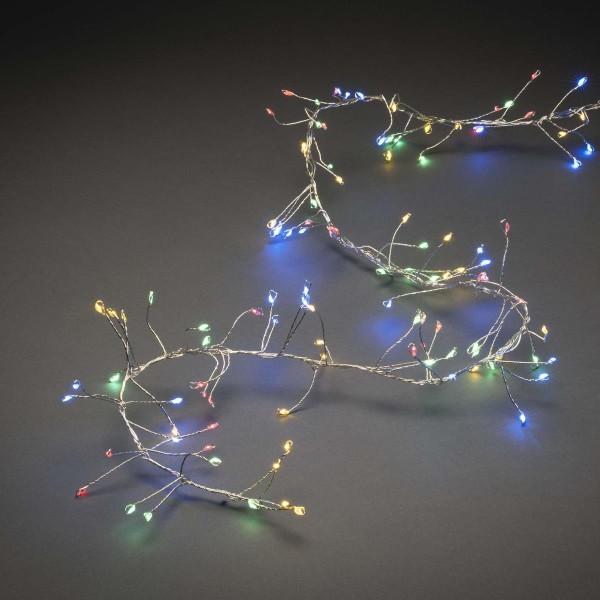 LED Micro Büschellichterkette - Cluster - 360 bunte LED - L: 2,7m - 8 Funktionen - Outdoor
