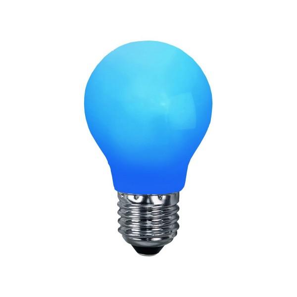 LED Leuchtmittel DEKOPARTY blau - A55 - E27 - 1W - 6lm - schlagfestes Polycarbonatgehäuse