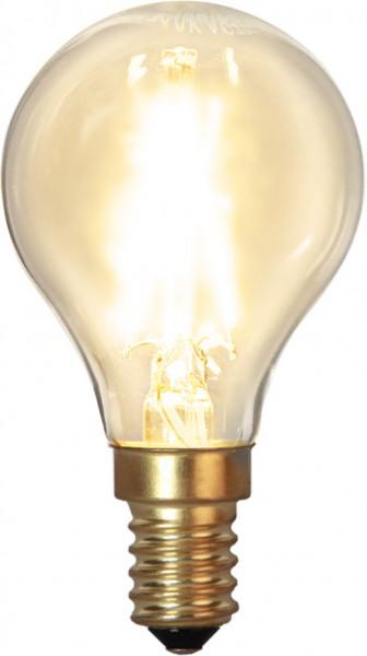 LED Leuchtmittel FILA GLOW - P45 - E14 - 1,5W - WW 2100K - 120lm - dimmbar