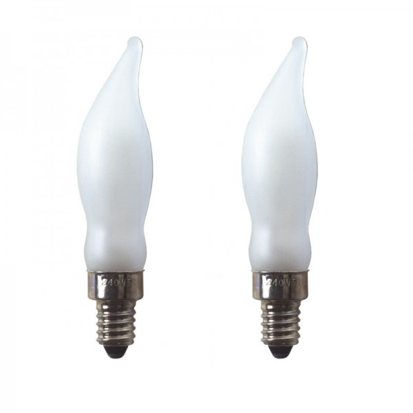 Ersatz-Leuchtmittel - E10 - 240V - 5W - Frost - 2 Stück