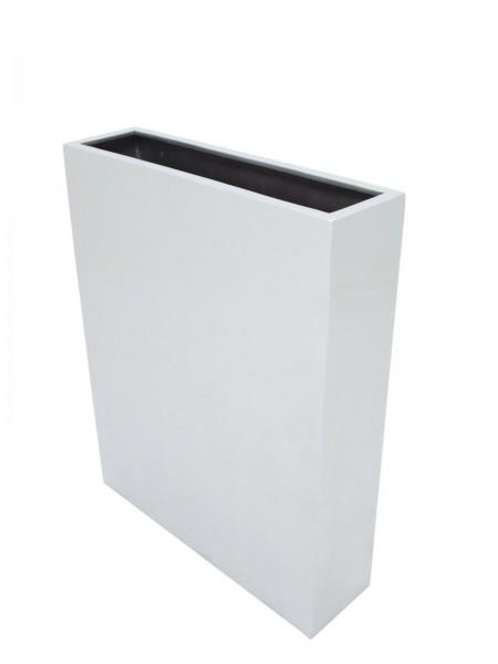Übertopf silber glänzend - CUBE-100 - 100cm hoch - aluminiumverstärkt