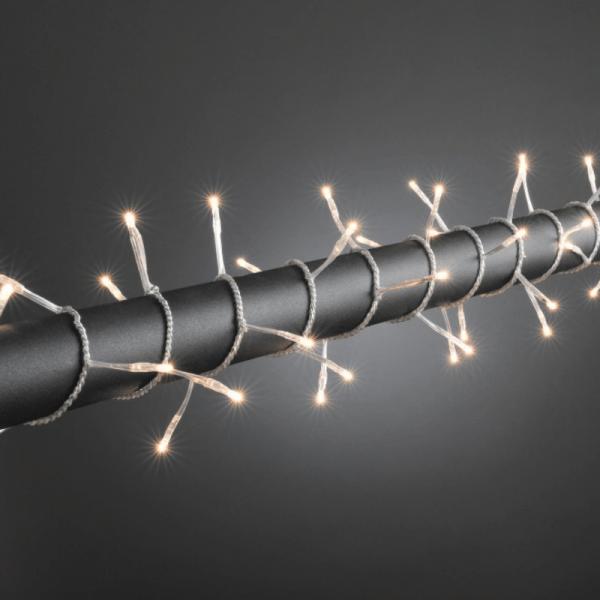 Microlichterkette - Pure - 3,95m - 80 x Warmweiß - Transparentes Kabel - Outdoor