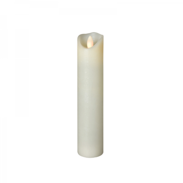 SOMPEX LED Wachskerze SHINE schmal | elfenbein | frost | D: 5cm H: 22,5cm | fernbedienbar | Timer
