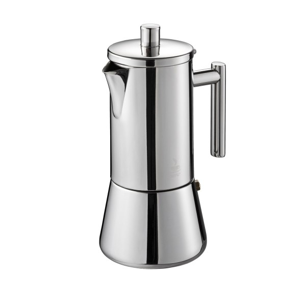 Espressokocher NANDO - 6 Tassen - Edelstahl - für alle Herdarten