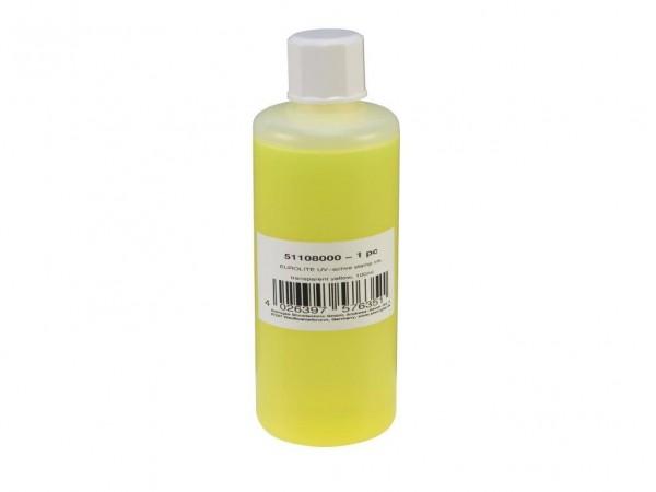 UV -aktive Stempelfarbe - transparent gelb - 100ml