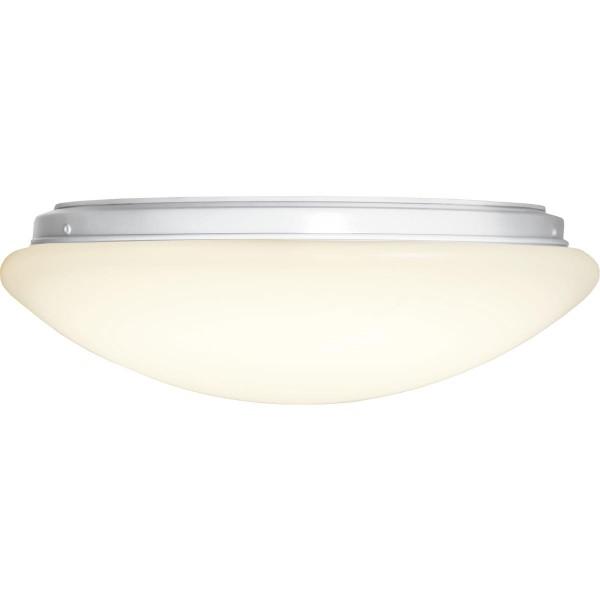 LED Deckenleuchte INTERGRA - D: 35cm - 18W - 40 warmweiße LED - 3000K - 1200lm - 120° - weiß