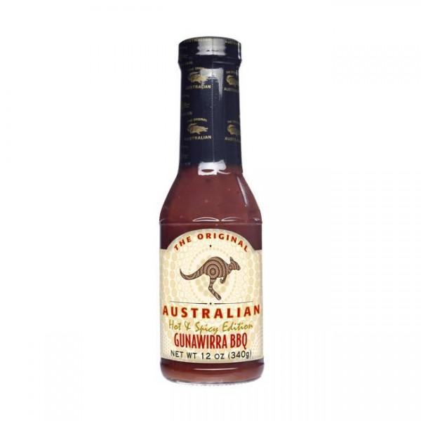 The Original Australian Gunawirra Hot & Spicy BBQ Sauce 355ml würzig, leicht scharfen Geschmack
