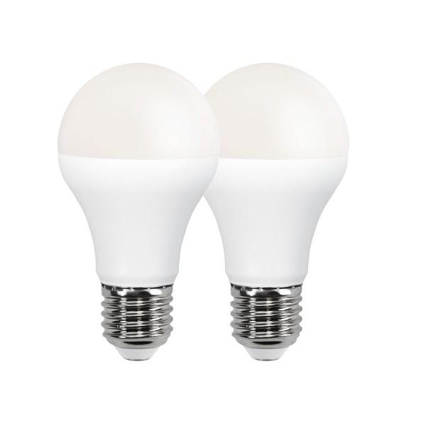 LED Leuchtmittel 2er Pack A60 - E27 - 12W - warmweiss 3000K - 1050lm - PROMOLED