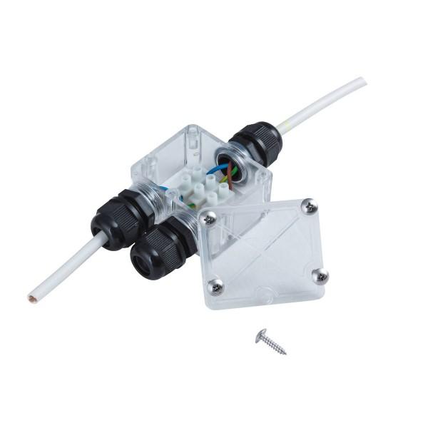 Kabelverbinder Box - Garten - IP67 - 230V - 3 Ausgänge - wasserdicht bis 1m - 3 polig - 125x40x64