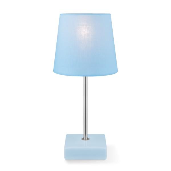 Tischleuchte ARICA - hellblau - 27cm hoch - E14 Fassung - Keramiksockel