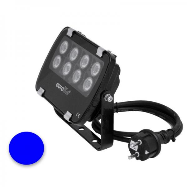 EUROLITE LED IP FL-8 | 30° | 8x1W | IP56 | Lichtfarbe Blau