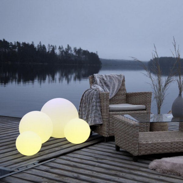 "LED Kugel ""Twilights"" - 40cm - RGB Farbwechsel oder feste Farbe - Fernbedienung - Aufladbar - IP44"