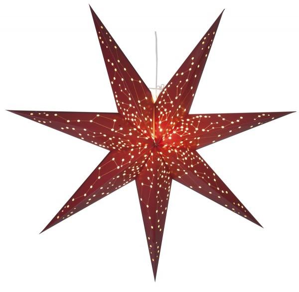 """Papierstern """"Galaxy"""" - mit Sternenbildern - hängend - 7-zackig - Ø 100 cm - Rot"""