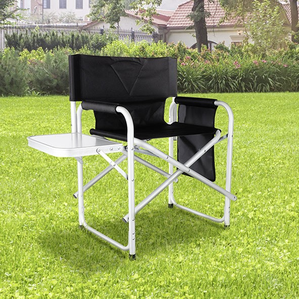 Regiestuhl mit Tisch und Tasche - 47x57x79cm - Aluminium-Polyester - max 120kg