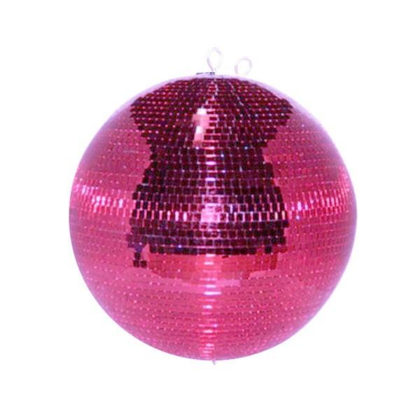 Spiegelkugel 30cm - pink - Safety - Diskokugel Echtglas - 10x10mm Spiegel PROFI