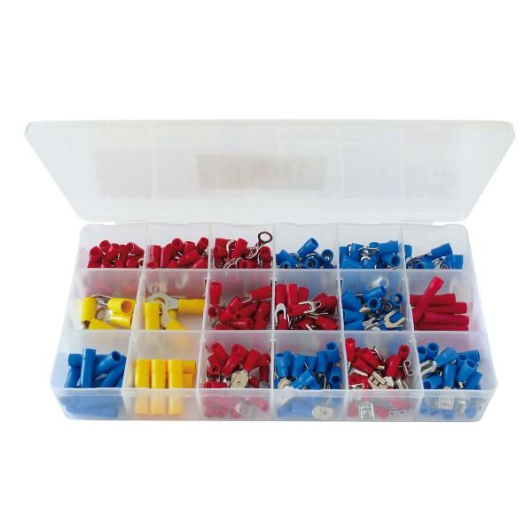 Kabelschuh-Sortiment - 300 Teile - in Sortimentsbox