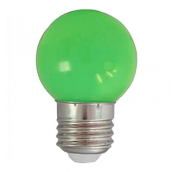 LED-Leuchtmittel   G45 - E27   1W   Grün