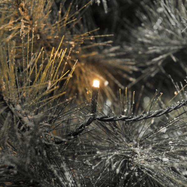 LED Microlichterkette - Outdoor - 9,52m - 120 x c - schwarzes Kabel - Glimmereffekt