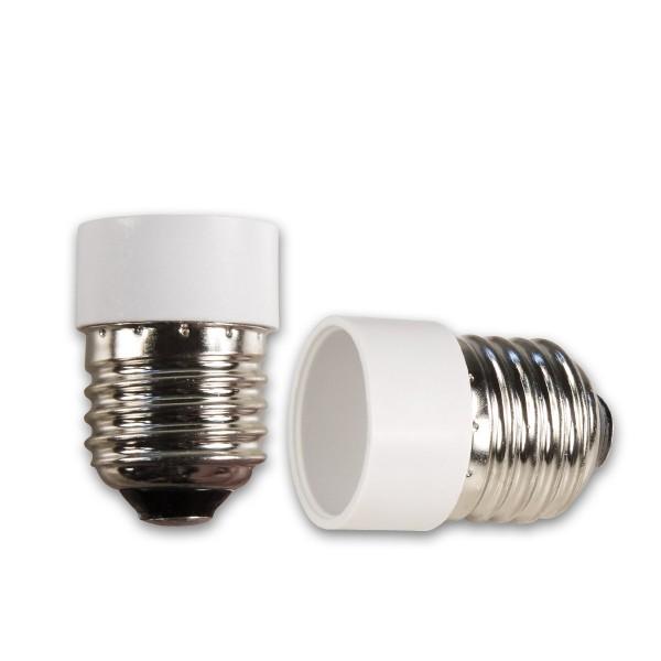 Lampensockel Adapter für Leuchtmittel - Porzellan - max 100W - E27 auf E14