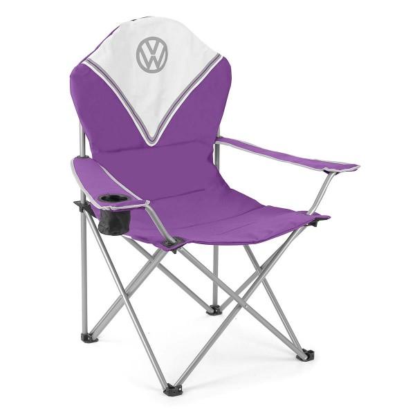 VW Collection - VW T1 Bus Campingstuhl DELUXE lila - faltbarer Stahlrahmen - max 120kg