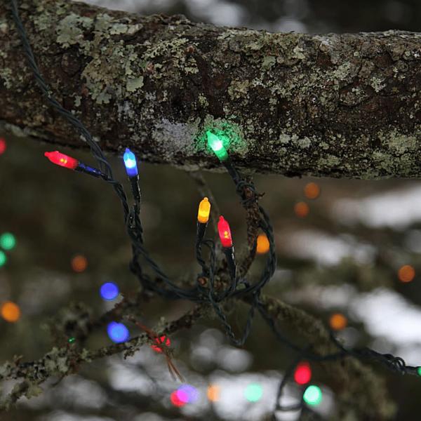 LED-Lichterkette - Garden Line Outdoor - 8,00m - 40x Bunt - Grün