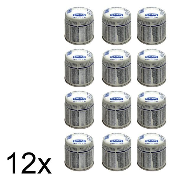 12 x CADAC 190g Stech Gas-Kartusche (190g Butan-Propan-Gemisch) - Stechkartusche EN417