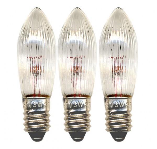 Ersatz-Leuchtmittel - E10 - 23V - 3W - Warmweiß - 3 Stück