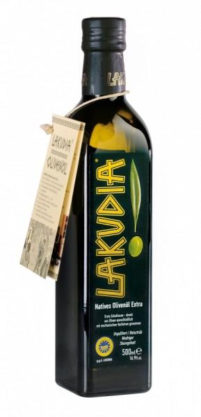 LAKUDIA 500ml Olivenöl Nativ Extra mit Ölspender