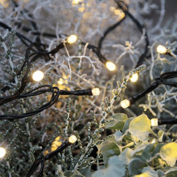 LED-Lichterkette | Serie LED | Outdoor | 8m schwarzes Kabel | 80 warmweiße LED