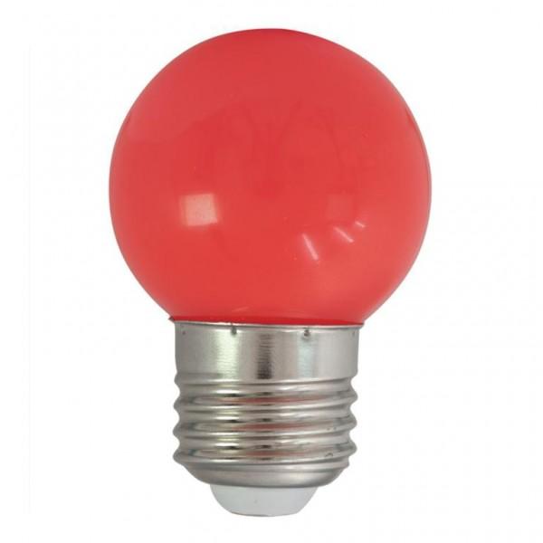 LED-Leuchtmittel   G45 - E27   1W   Rot