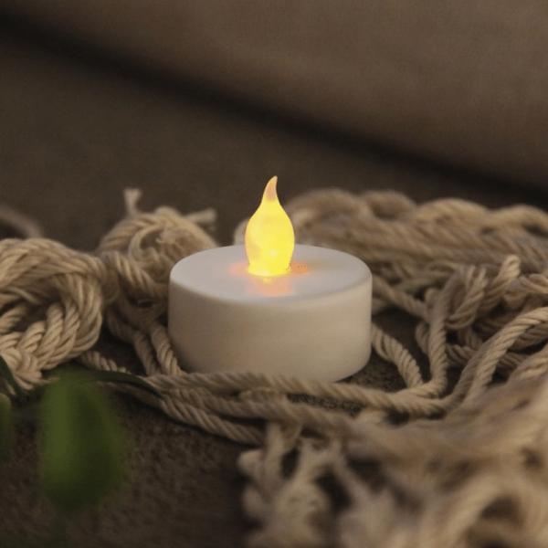 """LED Teelicht """"Paulo"""" - warmweiße flackernde Flamme - Batteriebetrieb - H: 4cm - 4er Set"""