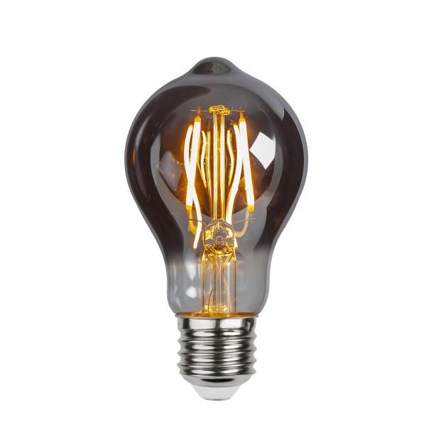LED Leuchtmittel Filament GLOW A60 - Tropfen - E27 - 2W - ultra-WW 2100K - 60lm - D: 60mm - smoked