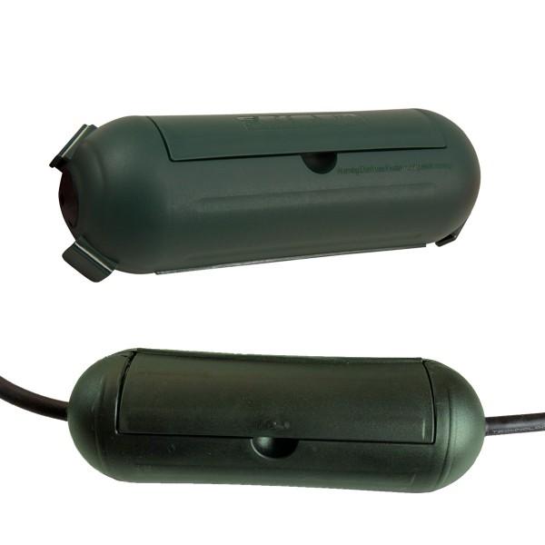 Kabelschutzdose, grün - zur Verlegung von Stromkabeln im Freien (Kabelbox)