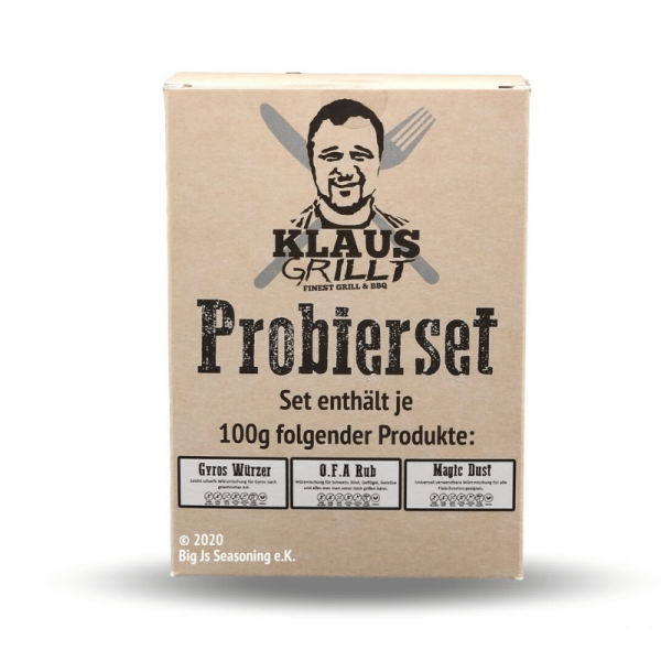 Klaus Grillt Probier Set - 3 x 100g - OFA, Magic Dust, Gyros