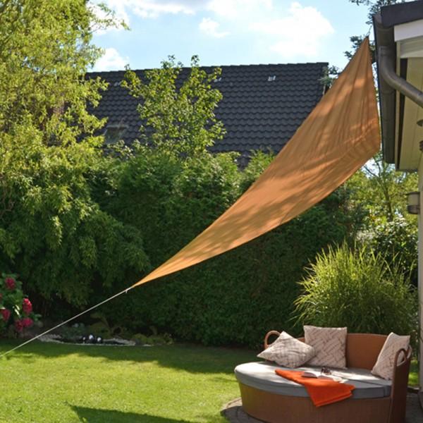 Sonnesegel 3,6x3,6x3,6m Dreieck - beige - 90% UV Schutz - wasserfest