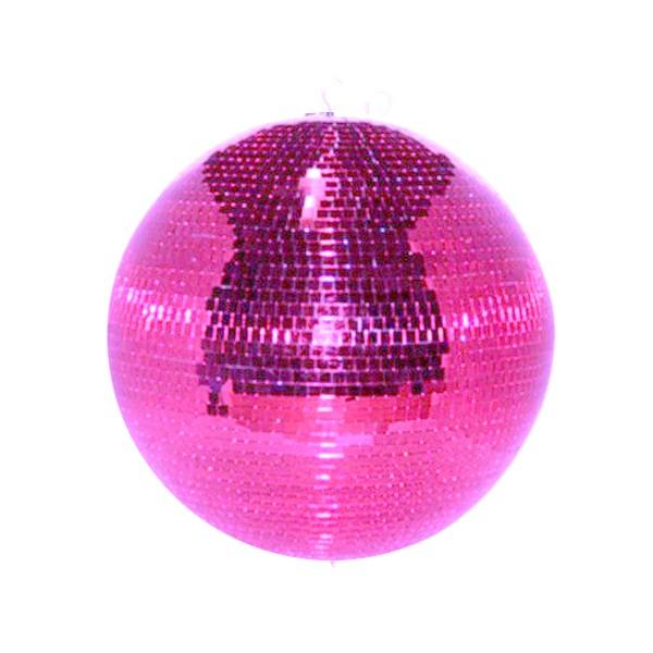 Spiegelkugel 50cm - pink - Safety - Diskokugel Echtglas - 10x10mm Spiegel PROFI