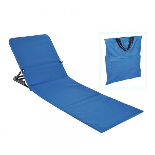 Strandliege klappbar blau - inkl. praktischer Umhängetasche - 145 x 47 x 42cm