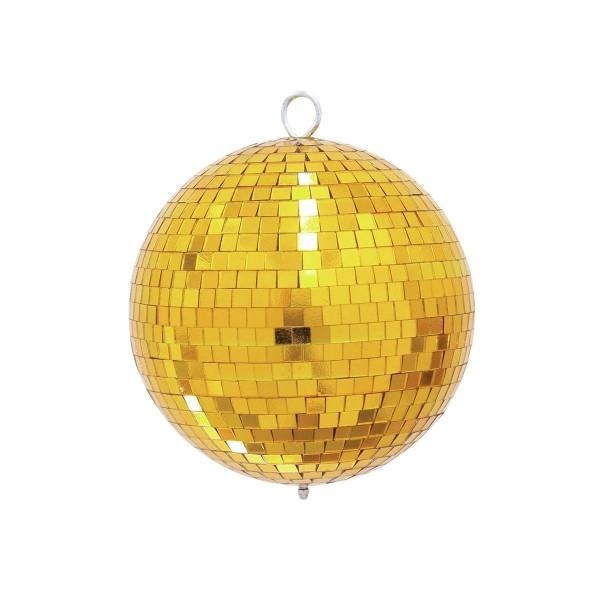 Spiegelkugel 20cm - gold - Diskokugel Echtglas - 10x10mm Spiegel - PROFI Serie