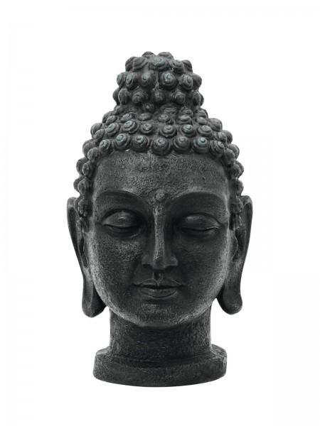 Buddhakopf antik-schwarz - 75cm - aus Fiberglas