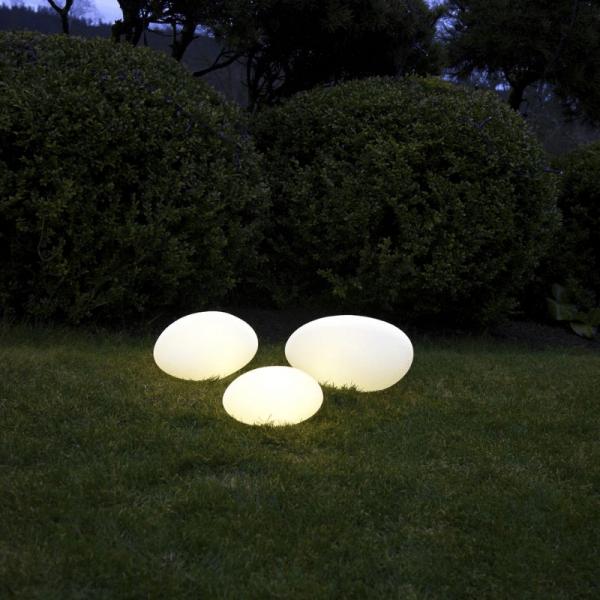 "LED-Stein ""Twilights"" - 26,5x13,5x20cm - RGB Wechsel/feste Farbe - Fernbedienung - Aufladbar - IP44"