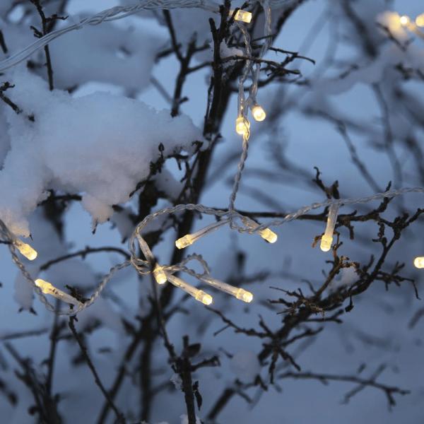 LED-Lichterkette | Serie LED | Outdoor | 7,2 m transp. Kabel | 120 warmweiße LED | Controller
