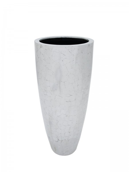 Dekotopf in toller silber-antik Optik - 120cm hoch - Durchmesser: 50cm