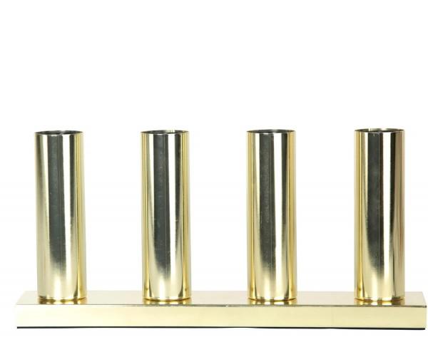 """Standleuchte """"Glans"""",4x E27-Fassung Farbe : messing, mit Schalter ca. 17 cm x 37 cm ( Leuchtmittel nicht enthalten ) Vierfarb-Karton"""