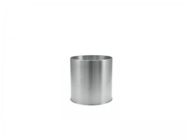 Pflanztopf Übertopf Edelstahl -Höhe: 18cm - Durchmesser: 18cm